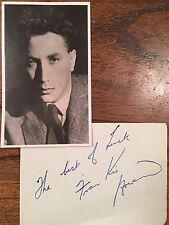 FRANKIE HOWERD TV ,STAGE AND FILM COMEDIAN AUTOGRAPH AND PHOTO