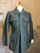 Vintage edwardian fire fighter sgt pepper style military tunic jacket size 38 40