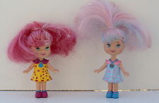 "Small Dolls  Mattel Two 4"" tall  Pretty Sparkly  Hair both very good condition"