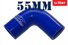 "4PLY Silicone 90 Degree Elbow Connector Joiner Turbo Hose Pipe 55mm 2.16"" Blue"