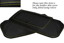 YELLOW STITCH FITS CORVETTE C4 84-96 2X SUN VISORS LEATHER COVERS ONLY