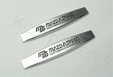 2Pcs Metal MS MazdaSpeed Car Fender Skirts Body Side Sticker Emblems For CX-9 M6