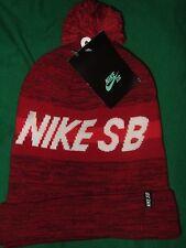 NWT Adult Sized Nike SB Sport Pom Knit Winter Beanie Hat Ski Cap Acrylic NikeSB