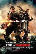 Edge Of Tomorrow DOUBLE SIDED ORIGINAL MOVIE POSTER Regular Style Tom Cruise