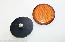 HONDA SUPER DREAM CB250N CB250NA NB - REPLACEMENT ROUND REFLECTORS x 2
