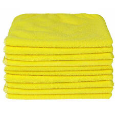 50x YELLOW CAR CLEANING DETAILING MICROFIBER SOFT POLISH CLOTHS TOWELS LINT FREE
