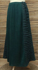 *ZUZA BART*DESIGN OVERSIZE LINEN BEAUTIFUL MAXI SKIRT*DARK FOREST GREEN*XXL-XXXL