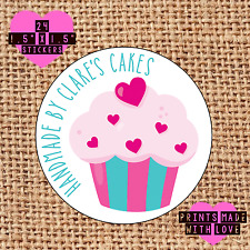 Personalised 24 handmade by cupcake kawaii cake maker love heart