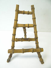 Vintage Used Bamboo Wood Small Art Artwork Easel Tripod Display Stand Old