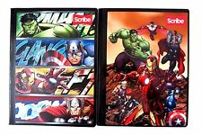 Marvel Comics Avengers  Boy's Composition Notebook 2 Piece Set W/Stickers NEW