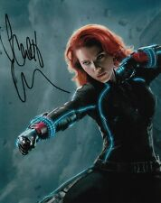 BLACK WIDOW SCARLETT JOHANSSON THE AVENGERS SIGNED 10x8 INCH LAB PRINTED PHOTO