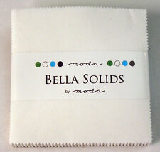 "Moda FABRIC Charm Pack ~ BELLA SOLIDS ~ WHITE ~ (9900PP 98)  40 - 5"" sq"