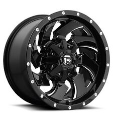 "Off Road 17"" Fuel Wheels D574 Cleaver Black Rims"