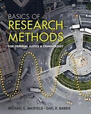 Basics of Research Methods for Criminal Justice and Criminology, Babbie, Earl R.