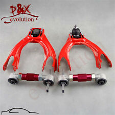 for 92-95 Honda Civic EG EJ Front Upper Control Arm w/Adjustable Camber Kit red
