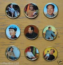 9 Pieces China Chairman Mao Badges Pins