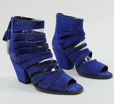 Free People Womens Cayman Strappy Heel Sandals Shoes Blue 7.5 EU 38 New