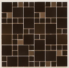 Sample Metallic Random Silver and Black Steel Mosaic 30x30 Sheet