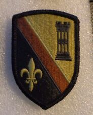 ARMY PATCH,225TH ENGINEER BRIGADE,BROWN STRIPE  ,MULTI-CAM,SCORPION, WITH VELCRO