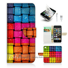 iPhone 5 5S Print Flip Wallet Case Cover! Colourful Damask Pattern P0101