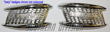 Triumph Chromed Tank Badges F4127 F4128 3TA 5TA pre unit 56-59 650 63-65 Embleme
