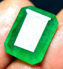 8.30 Ct Natural Fabulous Zambian Emerald Shape GGL Certified Emerald Gemstone