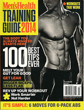 Men's Health TRAINING GUIDE 2014 100 Best WORKOUT Tips Nutrition Plan Muscle Abs