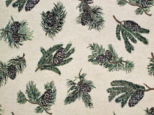 Camp Woodland Pine & Pine Cones Crafters Tapestry Upholstery Wall Hang Fabric