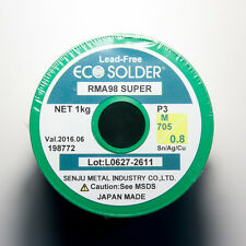 2.2 lb. SENJU SMIC Lead-free Solder Wire ECO Solder RMA98 SUPER Flux Cored 1/32""
