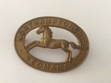 The Northamptonshire Yeomanry cap badge