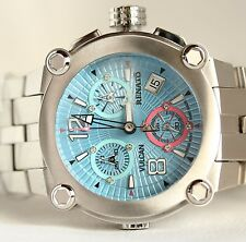 Renato Women's Chronograph Baby Blue Dial Stainless Steel Bracelet Watch