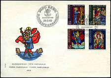Switzerland 1969 Pro Patria Stained Glass Windows FDC First Day Cover #C36865