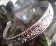 chenFR16PYzuo  collection chinese Tibet Silver Cuff Bracelet