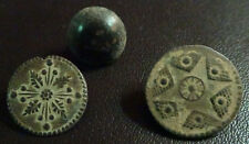 3 SMALL ANTIQUE BUTTON CENTURY XVIII OLD BOUTON BUTTON BOTON SEE MY SHOP CCB33