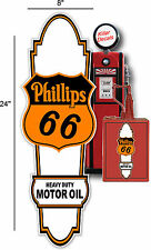 """24"""" X 10"""" PHILLIPS 66 OIL SIGN LUBSTER FRONT DECAL OIL CAN GAS PUMP GASOLINE"""