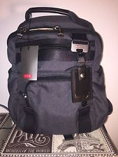 Tumi 69385 Nylon Black Grey Mini Evanston Klein rucksack Backpack Zipper Bag NWT