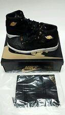 Nike Air Jordan 1 Pinnacle Black Metallic 24k Gold (705075-030) Sz 14 Free Sh