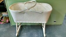 VINTAGE WICKER BASSINET