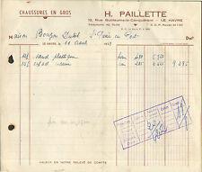 76 LE HAVRE FACTURE CHAUSSURES PAILLETTE DUTOT BOUGON SAINT PIERRE EN PORT 1959