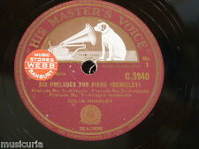 """78rpm 12"""" BERKELEY six preludes for piano COLIN HORSLEY C.3940"""