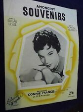 VINTAGE ORIGINAL SHEET MUSIC AMONG MY SOUVENIRS CONNIE FRANCIS 1947