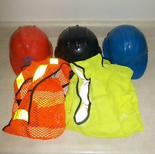 MIXED LOT of 3 HARD HATS & 2 SAFETY VESTS