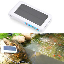 Portable Solar Power Panel Oxygen Oxygenator Air Pump Aerator Pool Pond