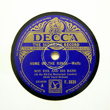 """ROY FOX & HIS BAND """"Home On The Range"""" (EE+) DECCA F-3834 [78 RPM]"""