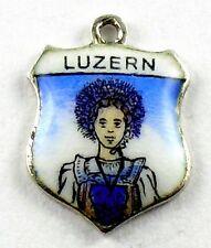 Bettelarmband Anhänger Wappen ♥ LUZERN LUZERNERIN Schweiz Souvenir antik RAR 717