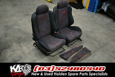 Holden VU SS RED Cloth Front Seats VT VX VY VZ UTE Commodore SS Maloo HSV - KLR