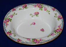 STUNNING LIMOGES FRANCE JEAN POUYAT OVAL VEGETABLE BOWL ROSES FORGET-ME-NOT GOLD