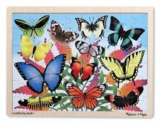 Melissa and Doug Butterfly Garden Wooden Jigsaw Puzzle (48 Pieces) , New, Free S