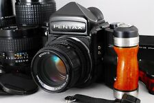 Exc+++++ Pentax 67 Late Model w/SMC P 75,105,200,300mm,Grip 6x7 from japan #702