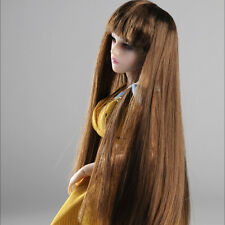 """DOLLMORE 12"""" Fashion doll wig Size (3-4)"""" Long straight - Brown wig"""